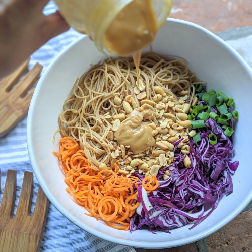 gluten free peanut noodles recipe healthy dairy free vegan vegetarian
