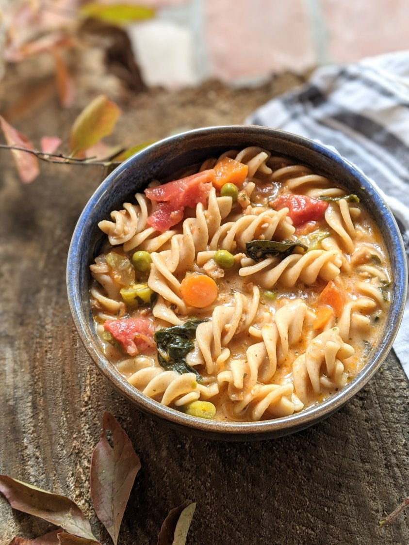 cozy fall or winter vegan soup recipes minestrone italian soups homemade creamy comfort food pasta soup with vegetables healthy high protein vegan bean and pasta soup recipes