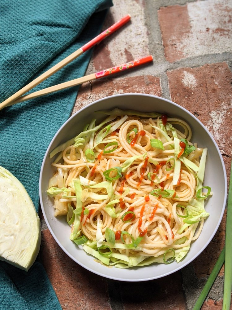 udon noodles with cabbage stir fry recipe healthy quick lunch or dinner stir fried noodles with udon vegan vegetarian meatless veganuary recipes asian