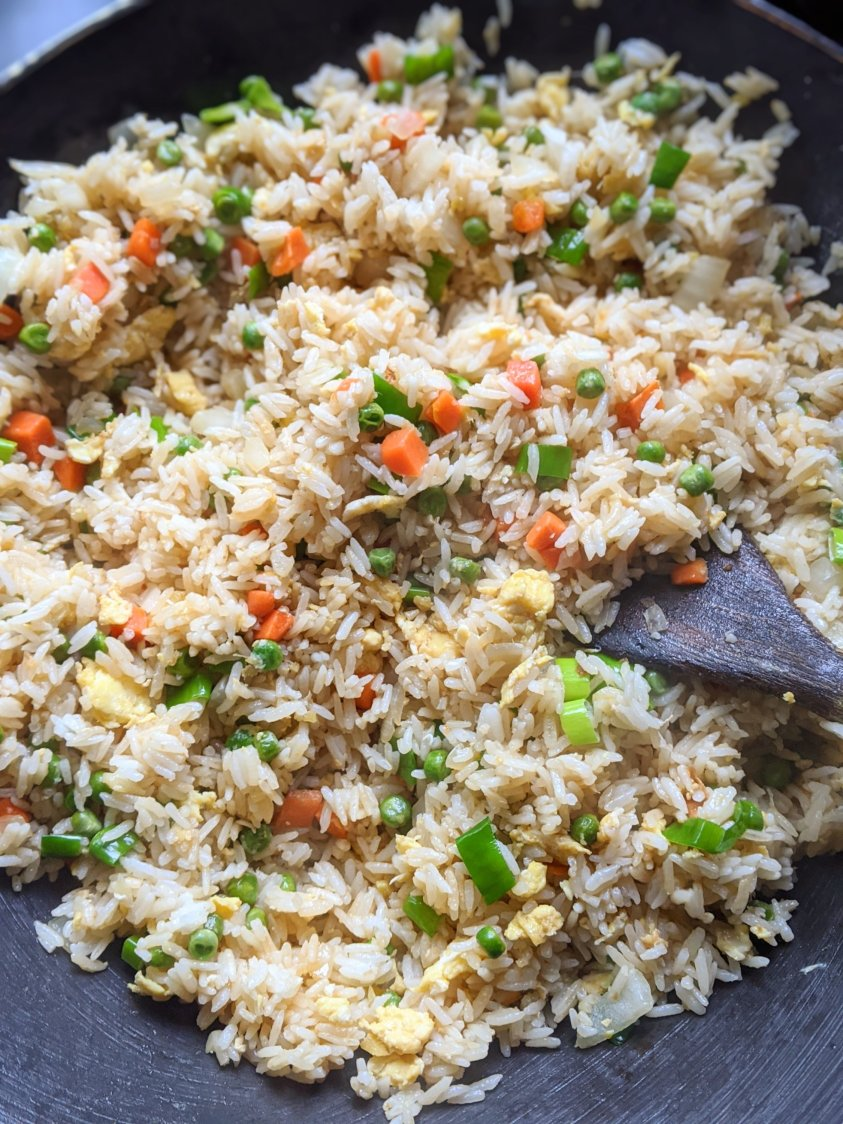 vegetarian and gluten free fried rice with leftovers vegan option for fried rice with no egg