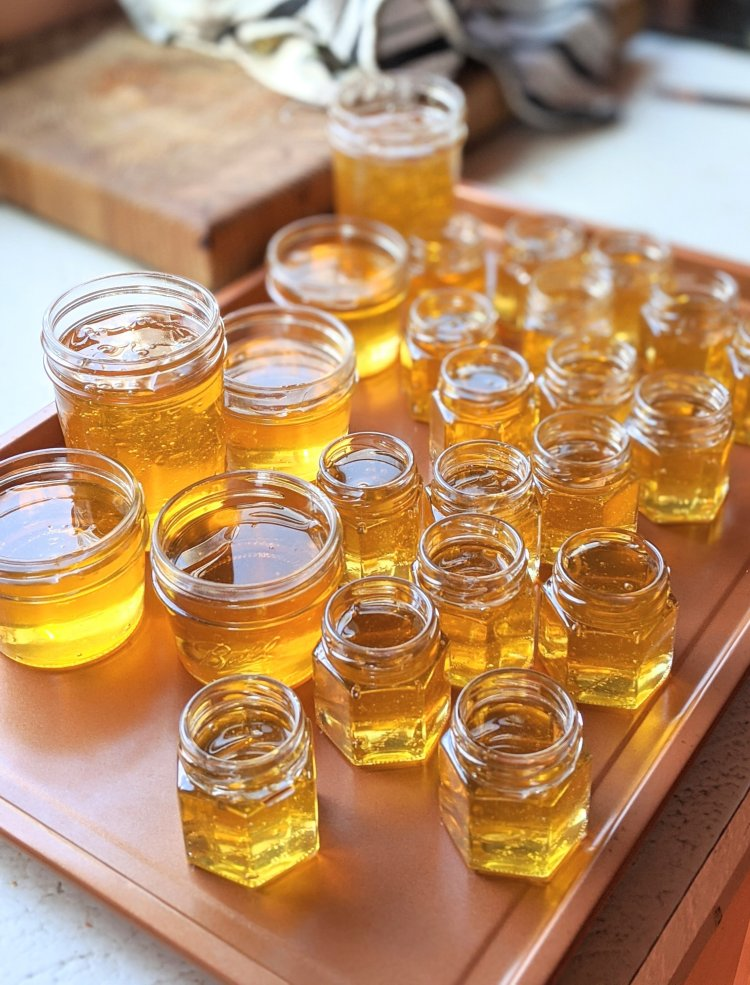 hex jars for raw honey healthy golden new england honey from local beekeepers