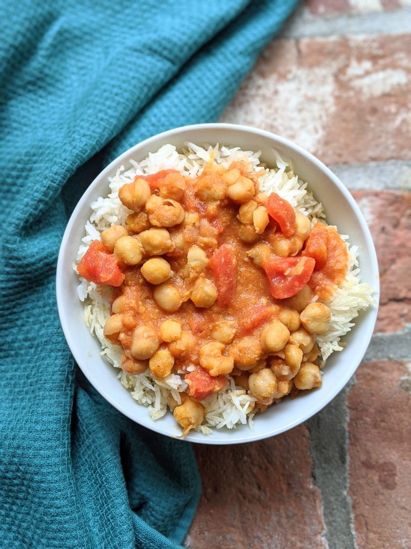 best vegan canned chickpea recipes best recipes with canned garbanzo beans healthy vegan chana masala recipes with pantry staple ingredients coconut milk diced tomatoes roasted red pepper