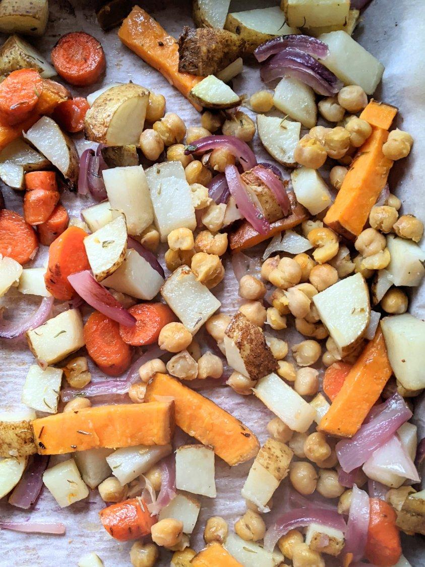 vegan sheet pan dinner ideas recipes meals easy high protein vegetarian one pan recipes gluten free meateless vegan plant based easy recipes 30 minute dinner roasts vegan