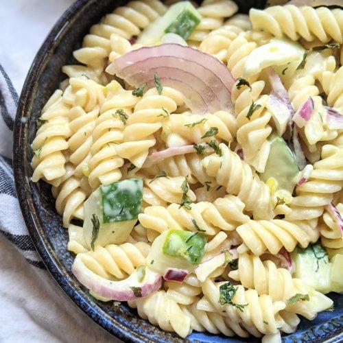 creamy cucumber pasta salad vegan gluten free