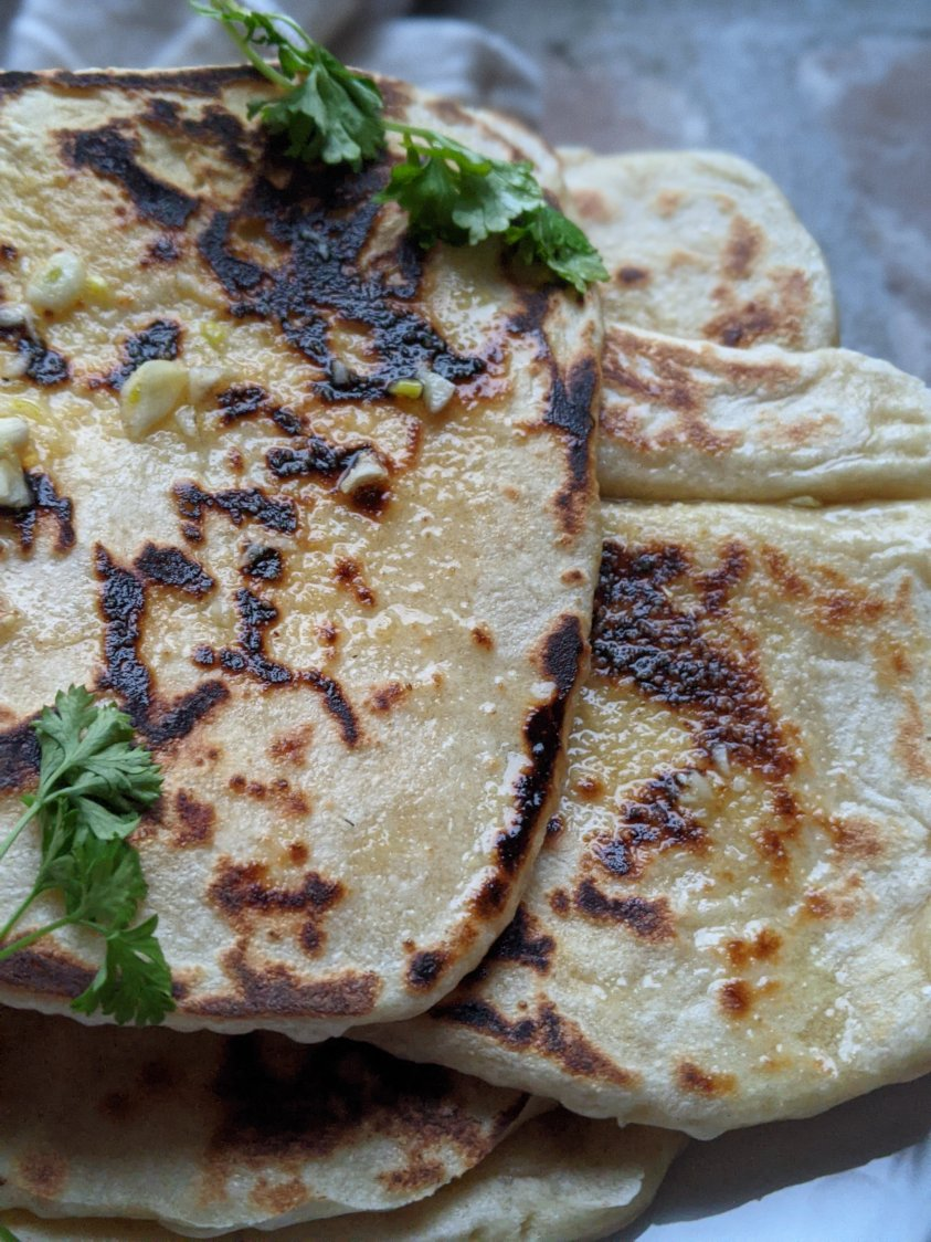 vegan naan recipe sourdough starter plant based bread recipes healthy homemade naan easy simple breads to make on the stove top no yeast