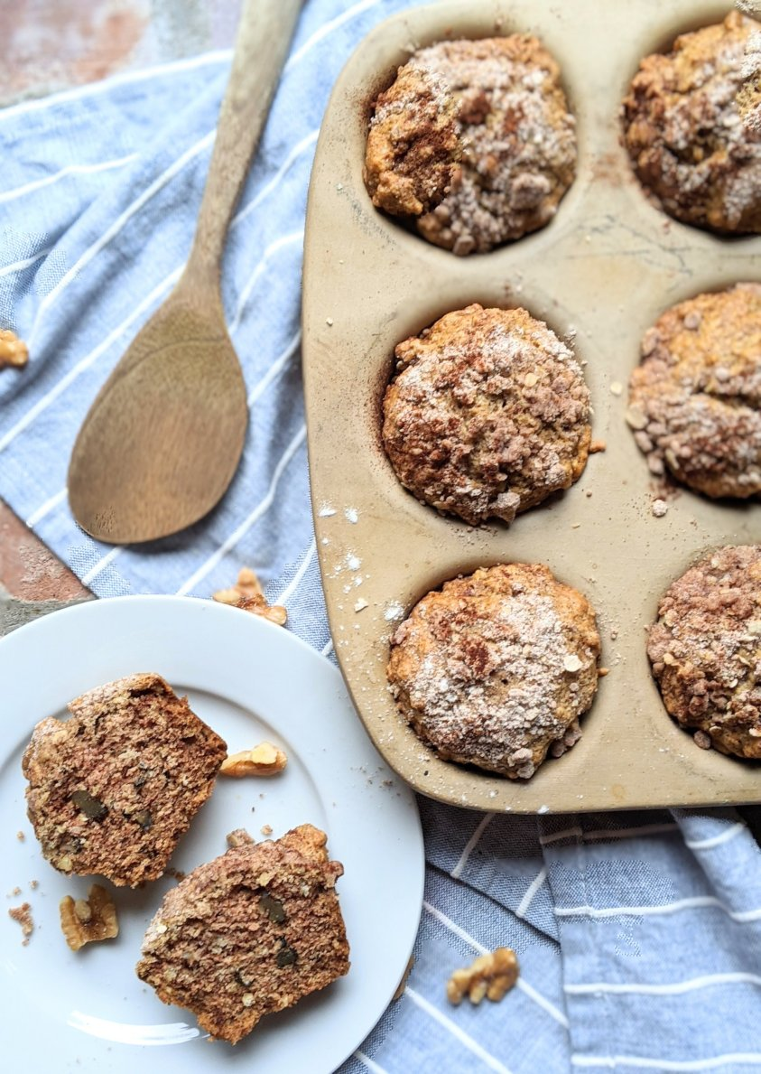 pantry muffins with ingredients in your cupboards apple sauce flour oats healthy dairy free egg free