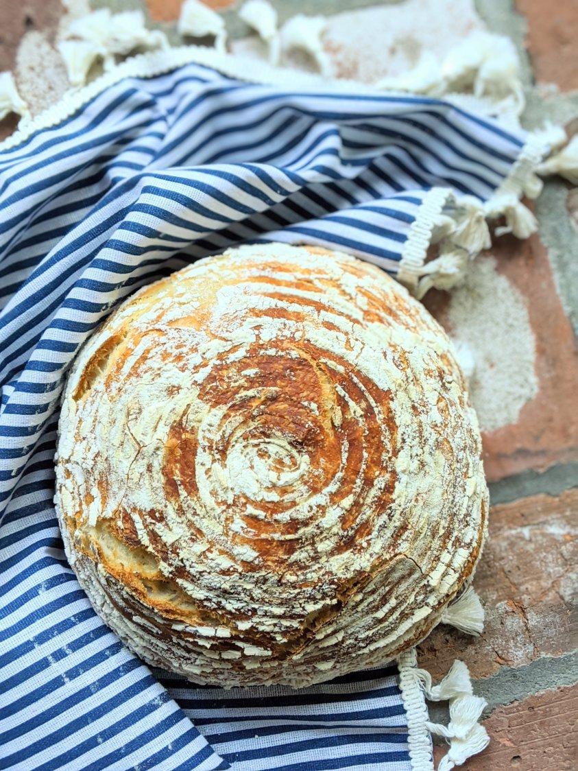 pantry bread with 4 ingredients pantry staples vegan helathy egg free dairy free