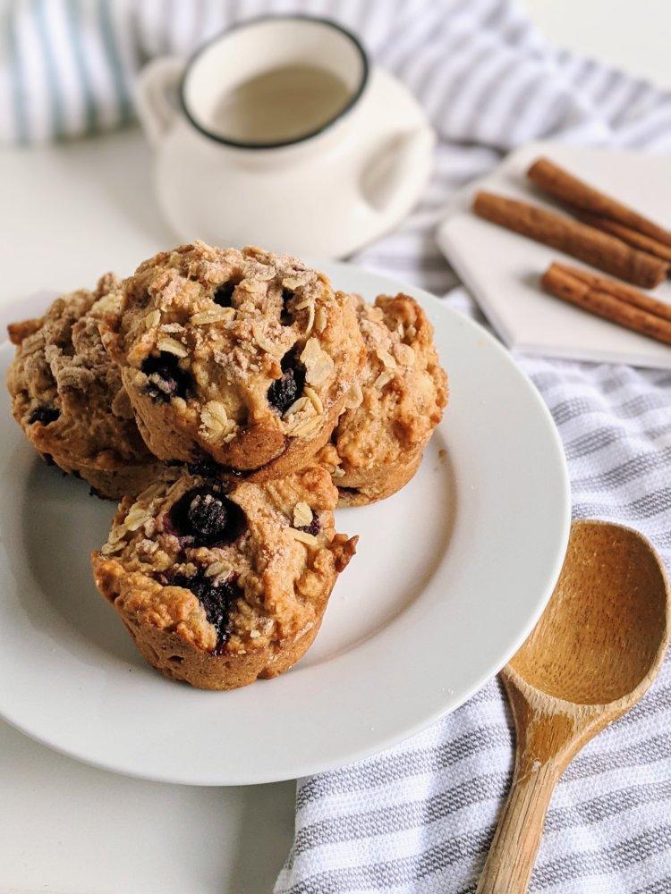 blueberry cinnamon muffins recipe healthy vegan plant based pantry staple breakfast ideas healthy easy homemade brunch recipe