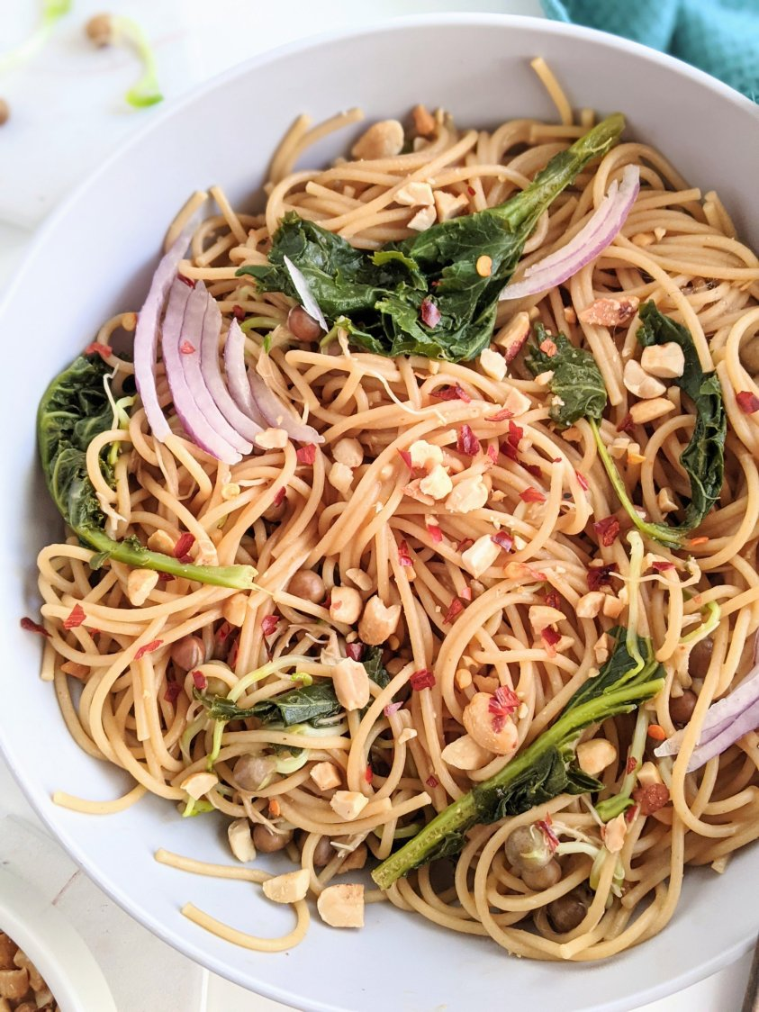 vegan peanut noodles homemade diy easy 20 minute dinner recipes lunches meal prep meatless vegan gluten free healthy low calorie creamy dishes