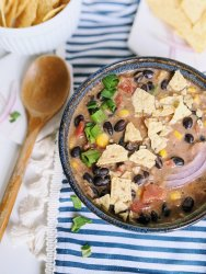 vegan tortilla soup recipe vegan vegetarian meatless gluten free dairy free healthy silken tofu queso dip recipe chips beans vegetables