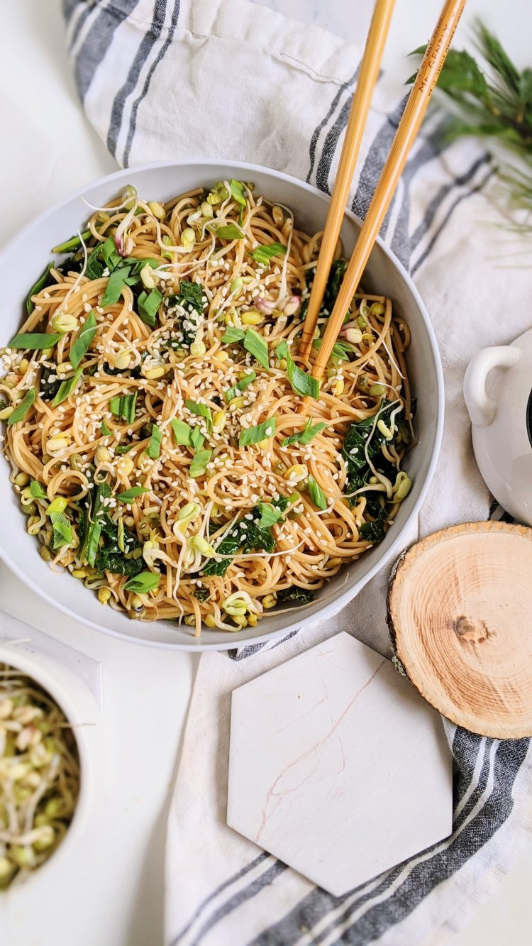 best vegan garlic noodles recipe rready in 15 minutes healthy recipes under 30 minutes pasta noodles asian inspired vegan vegetarian meatless gluten free