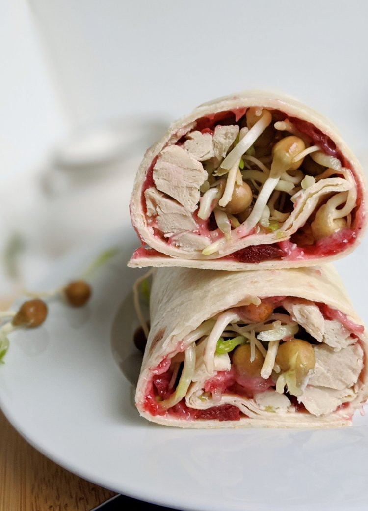 healthy turkey cranberry sandwich recipe wrap tortilla gluten free thanksgiving leftover recipes with cooked turkey and cranberries