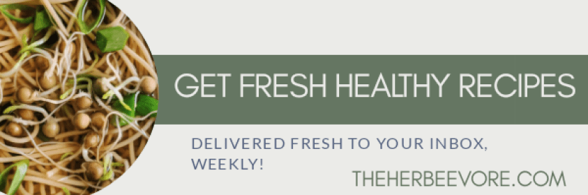 sign up for my vegan gluten free plant based newsletter, fresh healthy recipes emailed to you for free weekly