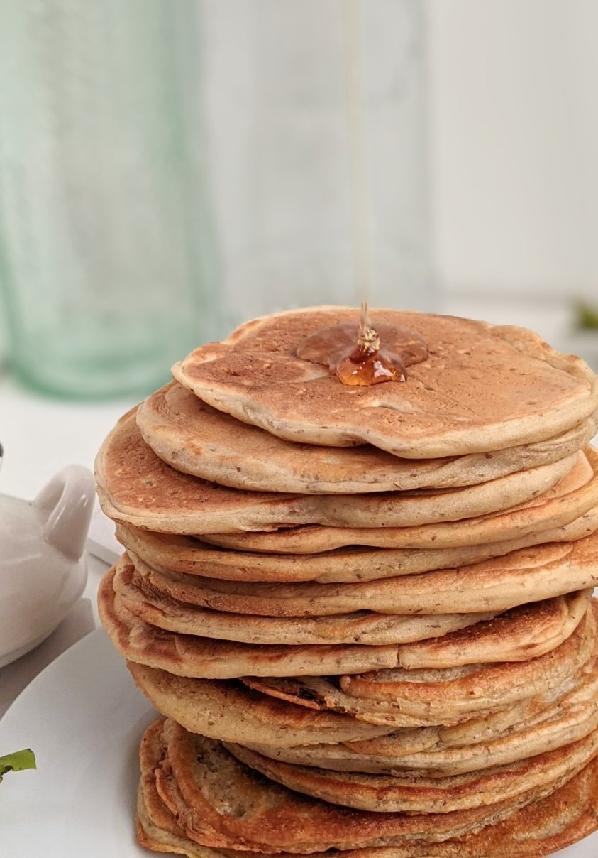 vegan sourdough breakfast recipes healthy homemade skillet pancakes griddle vegetarian brunch recipes with sourdough starter discard castoff egg free dairy free pancakes flapjacks johnny cakes