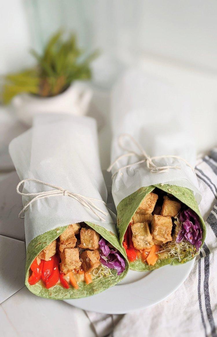 crispy tofu wrap vegan gluten free high protein vegetarian wraps healthy plant based veganuary recipes how do i cook tofu no press tofu without pressing recipes healthy do i need to press tofu