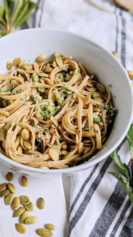 vegan nut free pesto with pumpkin seeds pepita recipe healthy plant based pesto no nuts no cheese