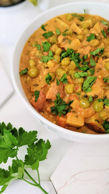 vegan potato pea curry recipe aloo matar instant pot recipe vegan vegetarian gluten free meatless indian dinner recipes with basmati rice or naan