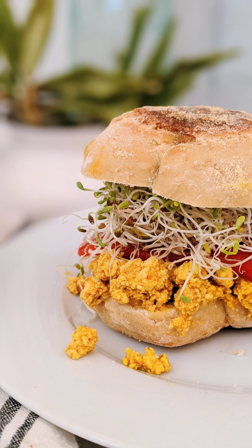gluten free breakfast sandwich no eggs recipes vegan vegetarian egg free breakfast sandwich recipes brunch ideas without eggs dairy free high protein recipes