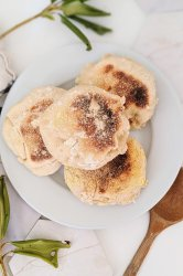 vegan sourdough english muffins recipe healthy plant based egg free muffins recipe savory dairy free uffins for breakafast or brunch