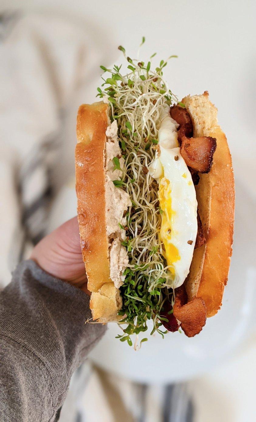 best breakfast sandwich with brioche bread recipe sweet breakfast sandwich ideas recipes toppings for a sandwich party bar entertaining homemade brioche recipes ways to use stale brioche