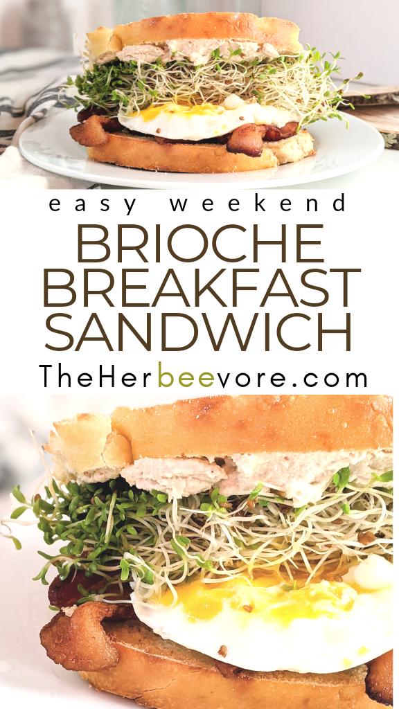 brioche breakfast sandwich recipe easy weekend brunches luxury brunch recipes best brunches with brioche bread fancy brunch recipes not basic
