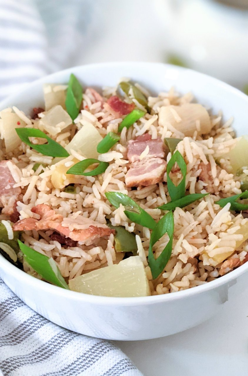 fried rice with bacon and pineapple recipe gluten free fried rice at home easy pineapple bacon fried rice for dinner or a quick lunch with leftover bacon recipes