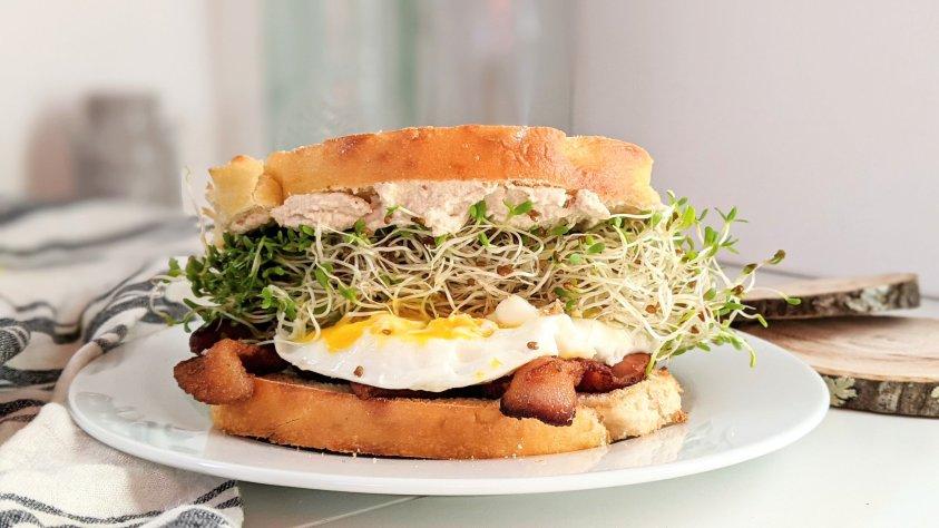 make your own brioche breakfast sandwich recipe vegan vegetarian gluten free breakfast sandwich ideas for a party entertaining potluck or brunch