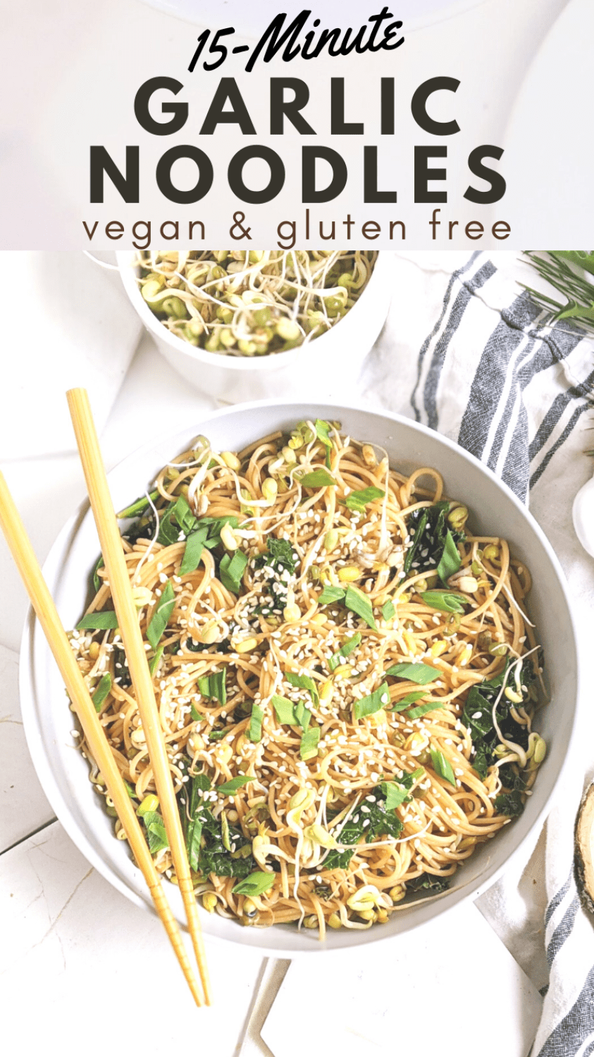 pantry staple noodle recipe made with pantry ingredients pantry garlic noodles easy recipe 15 minute garlic noodles at home vegan and gluten free pantry recipes