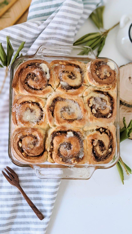 sourdough brioche cinnamon rolls easy breakfast recipes healthy pantry staple brunch recipes for guests overnight sourdough cinnamon rolls recipe brown sugar walnut cinnamon buns