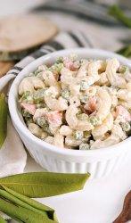 macaroni and pea salad recipe vegan gluten free green pea pasta salad recipe creamy no mayo mac salad with ranch dressing