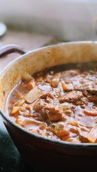 easy coq au vin recipe julia child french chicken red wine stew with carrots and potatoes recipe at home