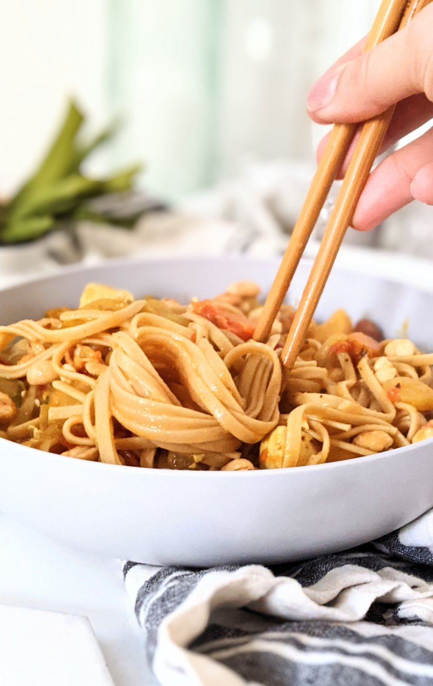 vegan peanut curry noodles with vegetable curry noodle bowl recipe peanut noodles gluten free vegetarian peanut noodles fakeaway