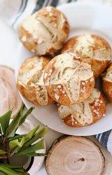 vegan sourdough pretzel buns recipe egg free pretzels with sourdough discard dairy free bretzel rolls homemade with sourdough starter pretzels