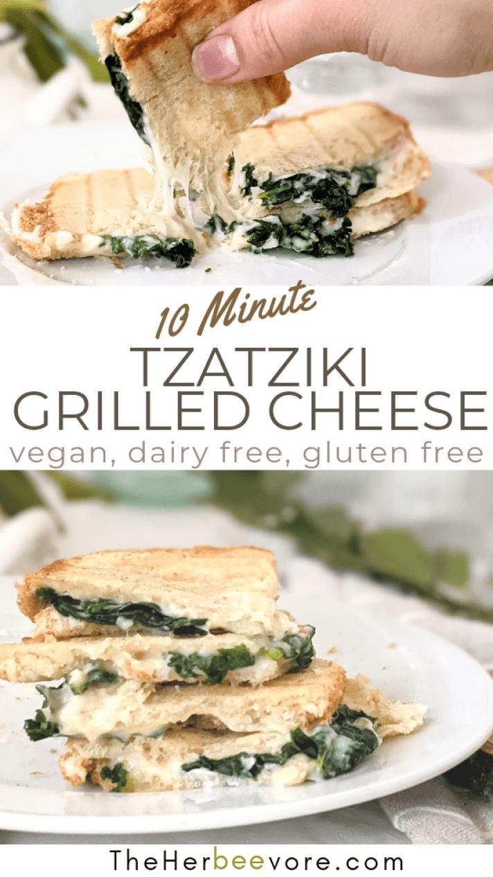 vegan grilled cheese with tzatziki sauce recipes sandwich with creamy garlic grilled cheese recipe dairy free grilled cheese vegan