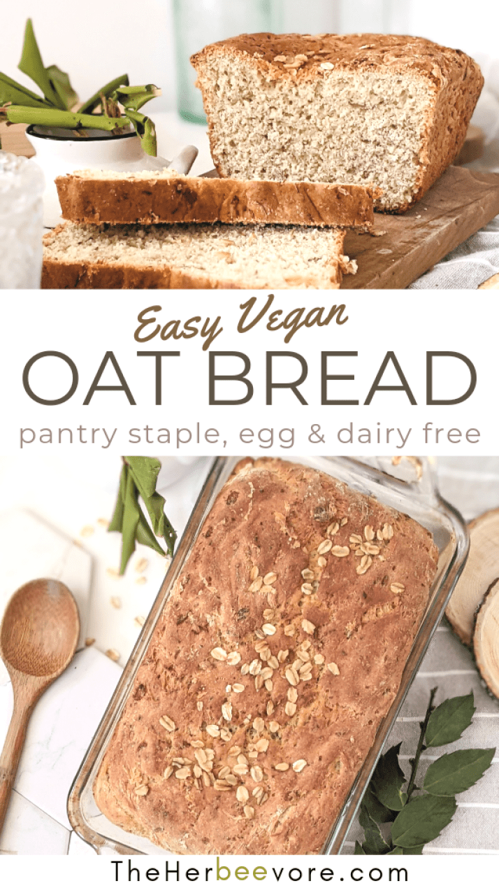 vegan oat bread recipevegetarian plant based yeast bread quick easy bread recipes for beginner bakers oat flax bread reicpes