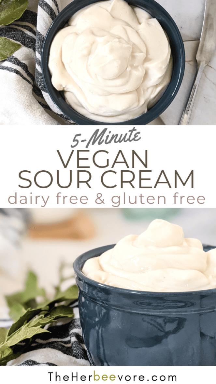 plant based sour cream recipe vegan high protein sour cream tofu recipe healthy homemade dairy free sour cream recipes