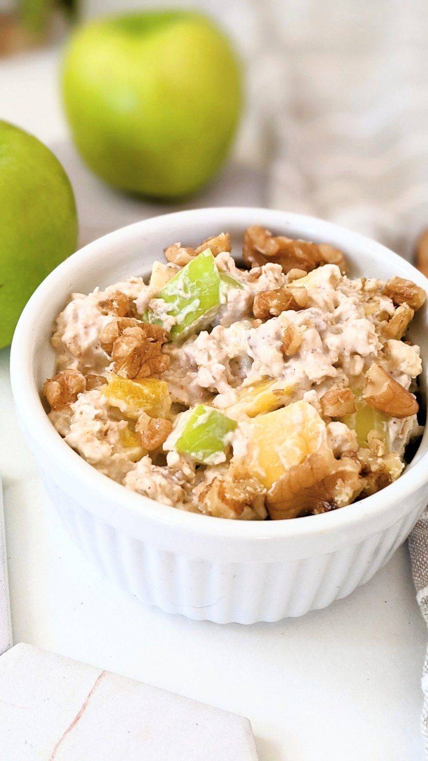 dairy free mango oats recipe vegan overnight oats with apples mangoes walnuts almonds and rolled oats recipes whole foods plant based wfpb