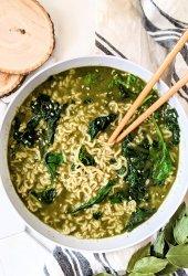 pesto ramen noodles recipe vegan gluten free vegetarian plant based ramen recipe hacks easy pantry noodles with basil ramen recipe