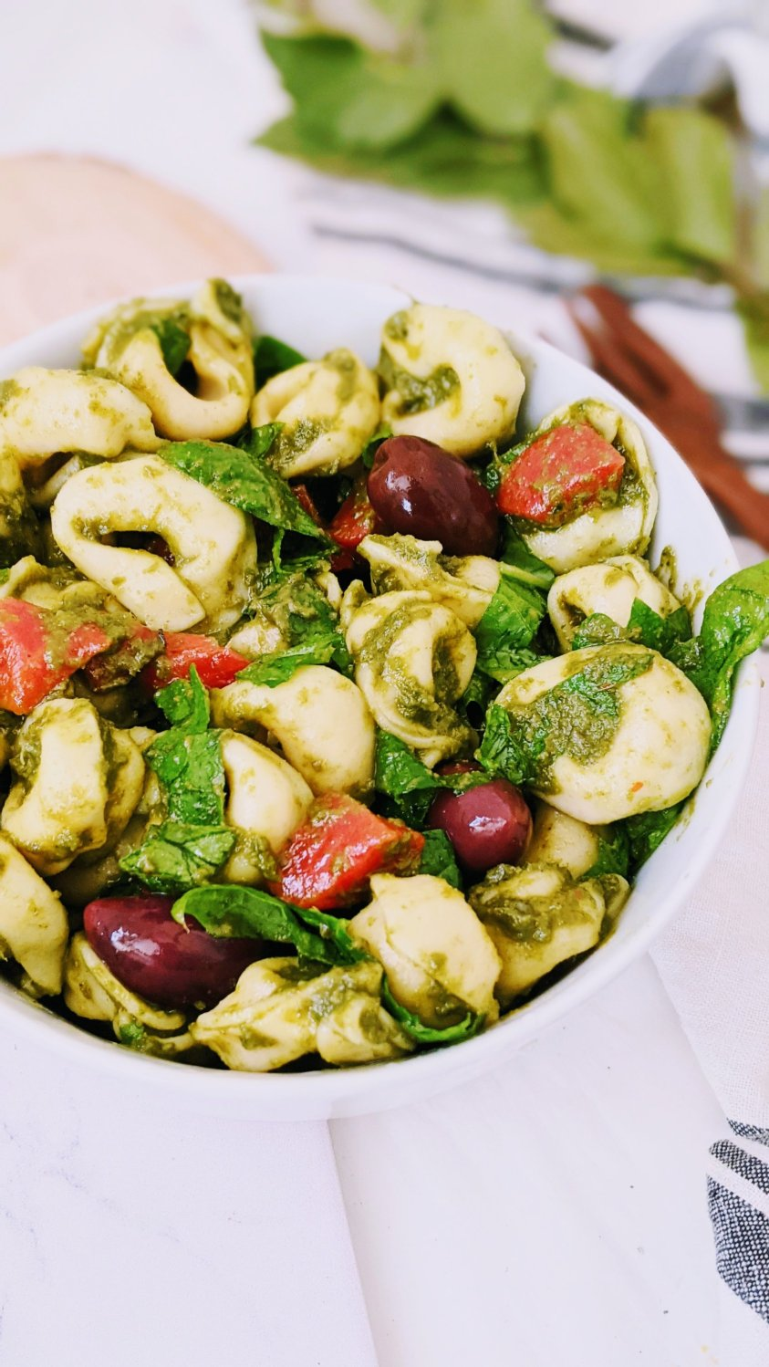 pesto tortellini pasta salad recipe meatless pasta salads for bbqs and entertaining 30 minute summer side dish recipes healthy salads