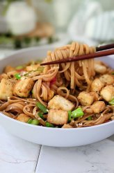 sticky garlic noodles with tofu recipe vegan vegetarian garlic noodles high protein tofu recipes healthy pantry noodles vegan gluten free rice noodle recipes