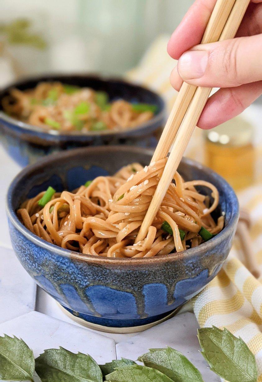 vegetarian instant pot asian noodles vegetarian honey garlic noodles recipe in the pressure cooker 15 minute dinners instant pot healthy plant based pastas at home honey stir fry noodles