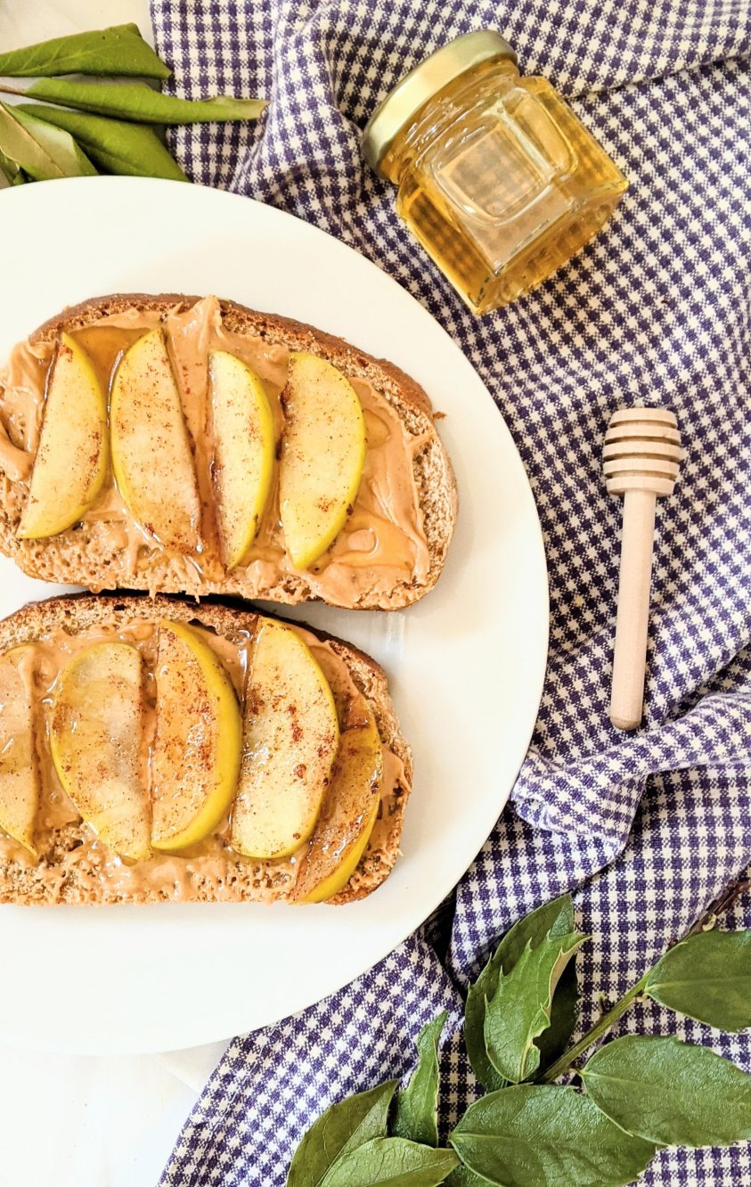 sauteed apples on toast with honey recipes plant based breakfast recipes with apples on toast recipe drizzle honey on apples for breakfast easy brunch recipes for guests at home