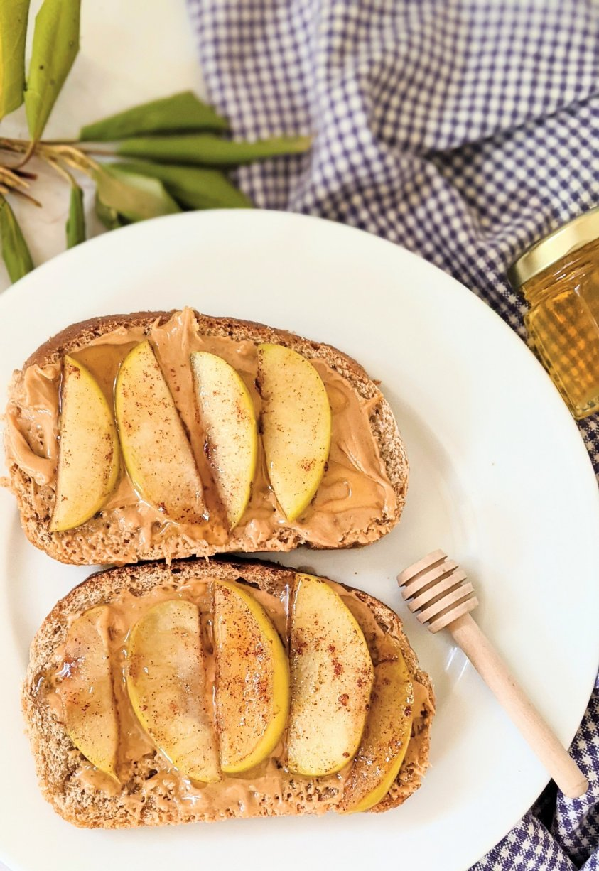 high protein meatless brunch recipes with honey apples on toast recipe granny smith apples and honey breakfast ideas vegetarian whole foods plant based brunches