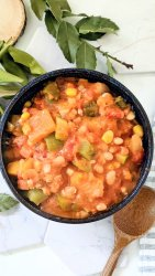 three sisters stew vegan gluten free summer stew recipes with corn squash beans okra tomatoes plant based proten whole foods plant based recipes for summer vegan healthy dinner ideas