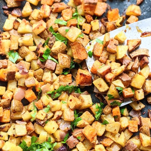 root vegetable home fries recipe whole30 home fries vegan paleo recipes breakfast ideas with sweet potato brunch recipes