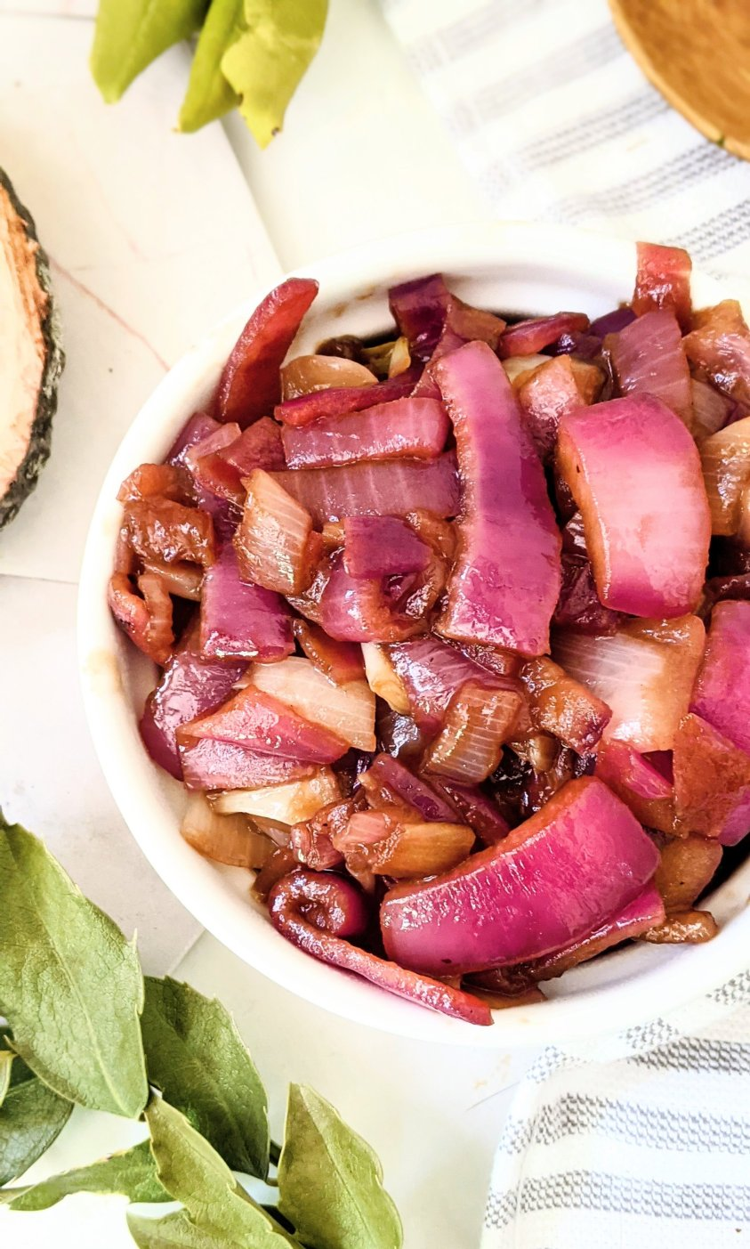 caramelized red onions for burgers frisco melts or grilled cheeses, caramelized onions for tacos or fajitas vegan gluten free vegetarian sweet caramelized red onion recipes