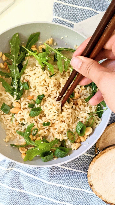 tahini ramen noodles recipe with sesame seeds vegan ramen hacks gluten free ramen with sesame noodles and arugula ramen noodles recipe