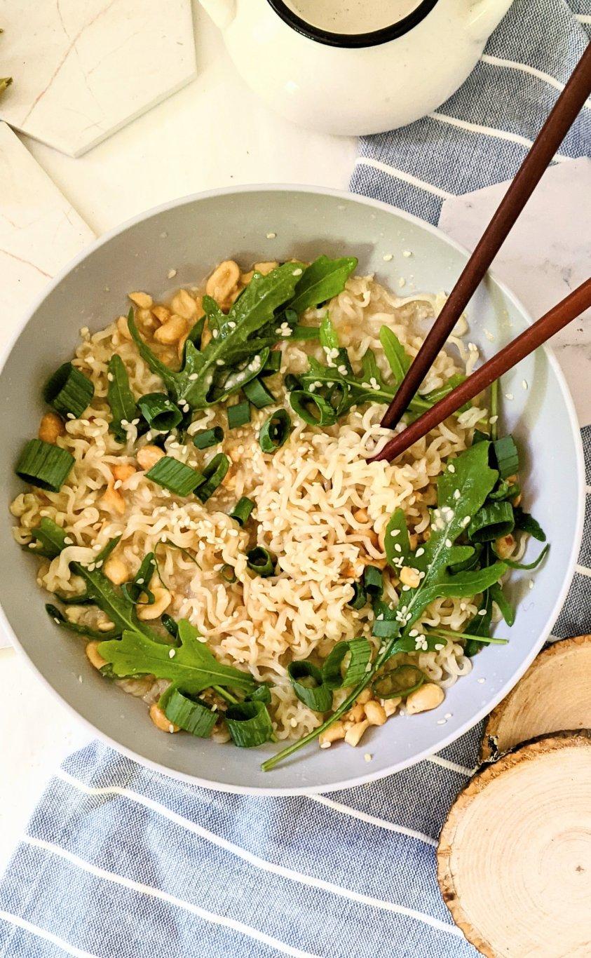 vegan sesame ramen instant recipe hacks gluten free sesame ramen noodles nut free creamy ramen noodles with tahini and green onion ramen with arugula can i add arigula to soups