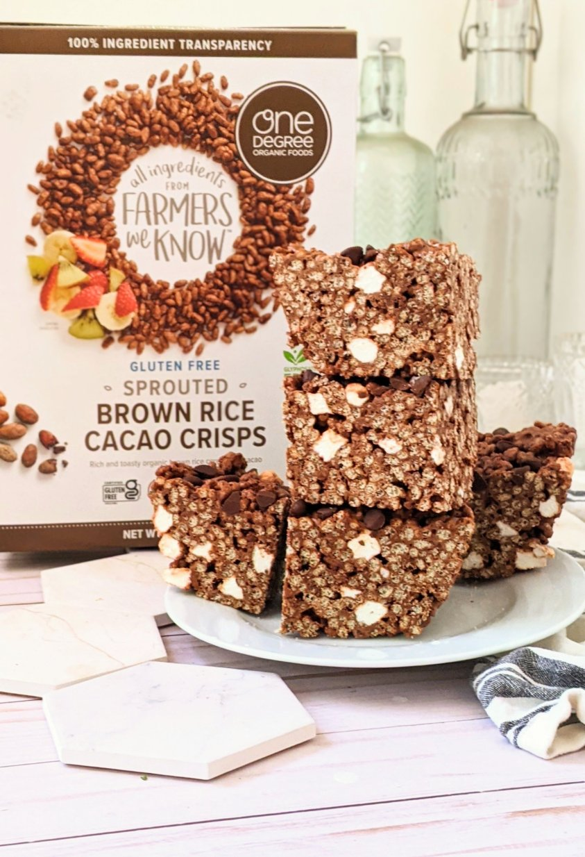 one degree organics brown rice cacao crisps cereal recipes healthy chocolate cereal bars vegan chocolate rice krispie treats recipe with coconut oil