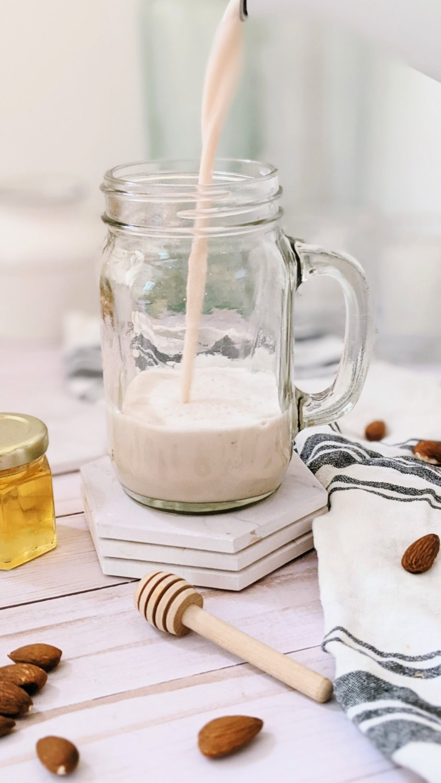 honey vanilla almond milk with honey dairy free milk alternatives sweetened almond milk with natural sweeteners gluten free no cook almond milk in a blender with a nut milk bag ot nutr nut milk machine recipes
